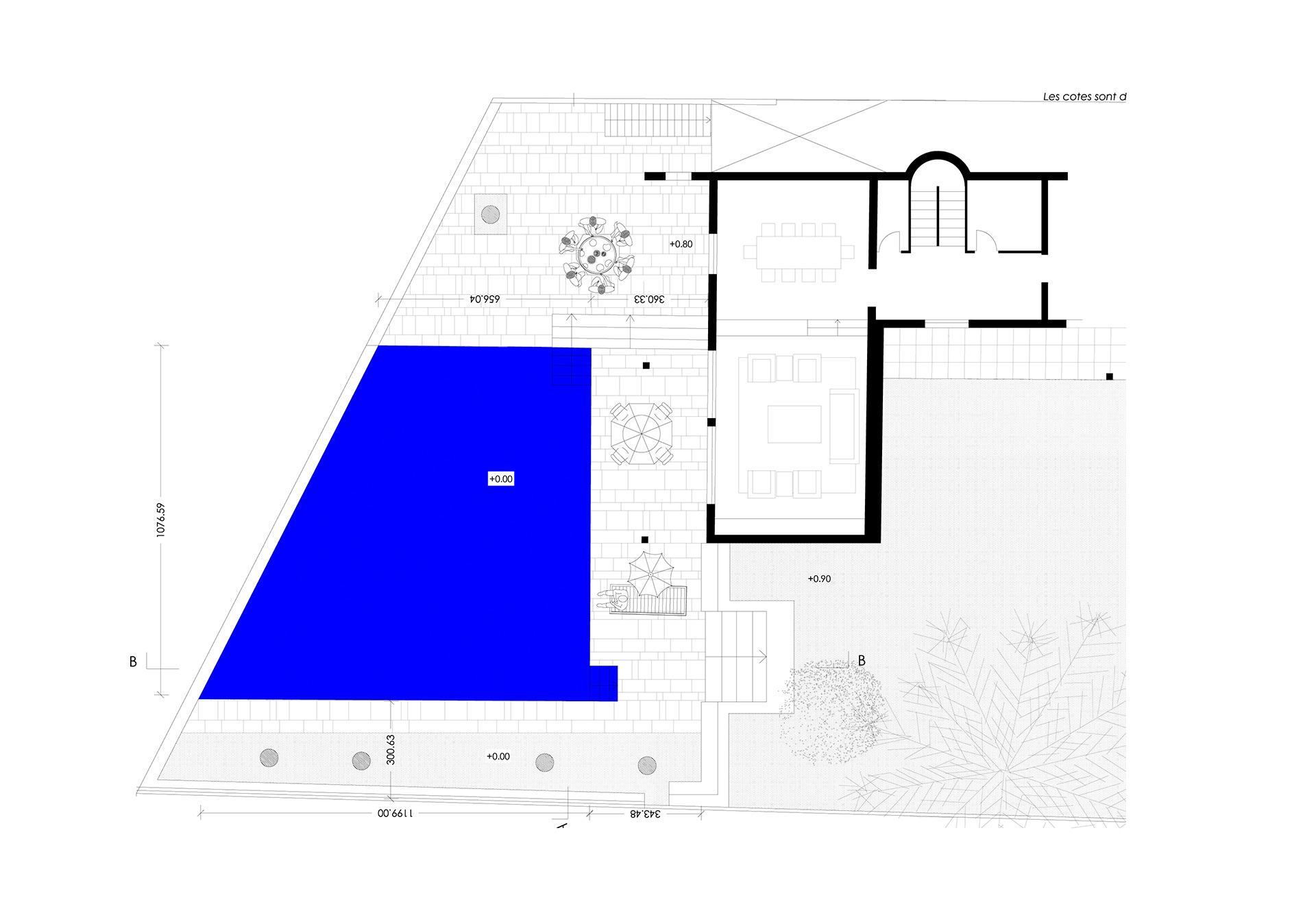 Architecte transformation Piscine Cap d'Antibes